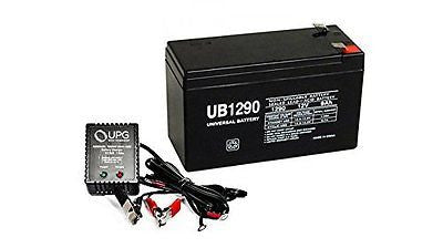12V 9AH Replaces Battery for Lowrance X-4 Pro Fishfinder + 12V 1Amp Charger