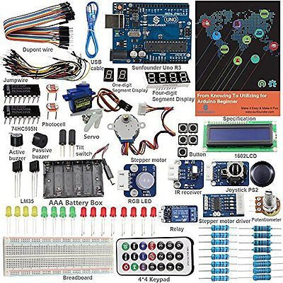 SunFounder Starter Kit From Knowing to Utilizing for Arduino Uno R3 Mega Nano