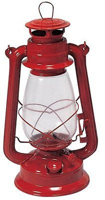 Stansport Hurricane High Oil Lantern (Red 12-Inch)
