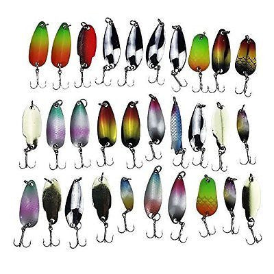 (30pcs Pack) APG Fishing Lures Spinner Baits Crankbait Assorted Fish Baits