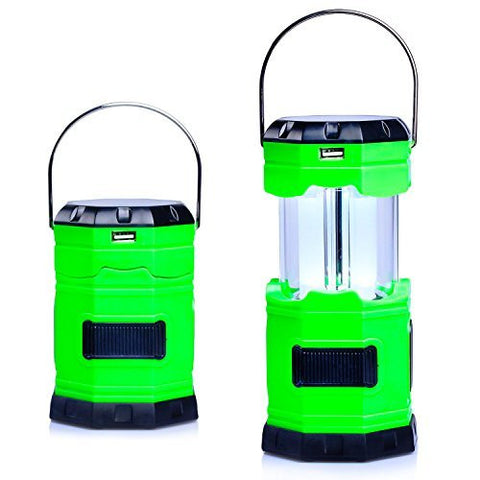Ultra Bright Solar USB Rechargeable Camping Lantern 180 Lumen - Collapses