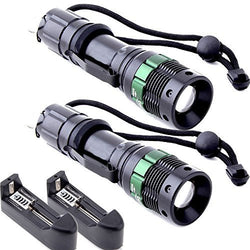 ANNT? 2packs Adjustable Focus Mini CREE LED Aluminum Flashlight Torch