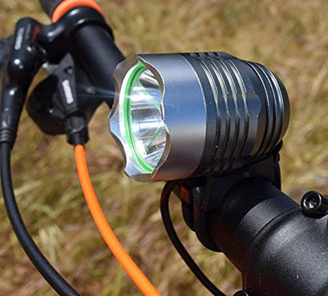 Go Bright Rechargeable 1200 Lumens Super Bright, Mountain, Road Bike Headlight