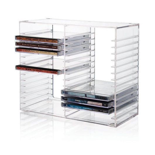 Stackable CD Holder - holds 30 standard CD jewel cases