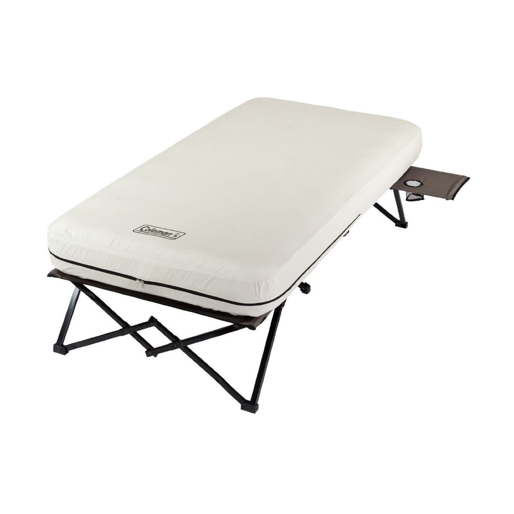 Coleman Twin Airbed Cot with Side Table and 4D Battery Pump