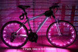Wheel Light LED Bicycle Bike Rim Lights [2-Pack Bundle for 2 Tires]