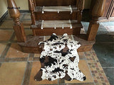 Cow Print Rug 3.6x2.5 Feet faux Cow hide rug Animal printed carpet