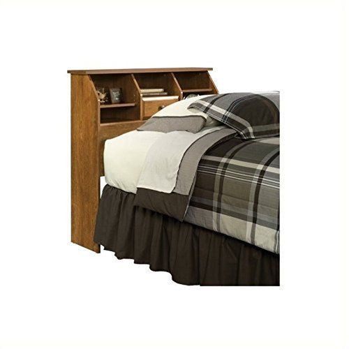 Sauder Shoal Creek Bookcase Headboard Twin Oiled Oak