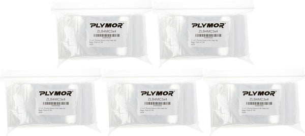 "3"" x 4"" 4 Mil Plymor Brand Zipper Reclosable Storage Bags Packs of 100"