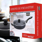 Non Stick Cooker / Saut¨¦ Pan 11 inches Deep Frying Pan Cookware with Glass Lid