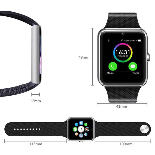 Smart Watch Phone for iPhone 5s/6/6s and 4.2 Android or Above SmartPhones