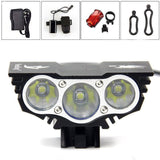 Solarstorm? X3 Cree XML U2 3 LED Rechargeable Waterproof 6600lm Black Bicycle