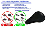 "Bicycle Gel Seat Cover 10.5""x7"" Domain Cycling"