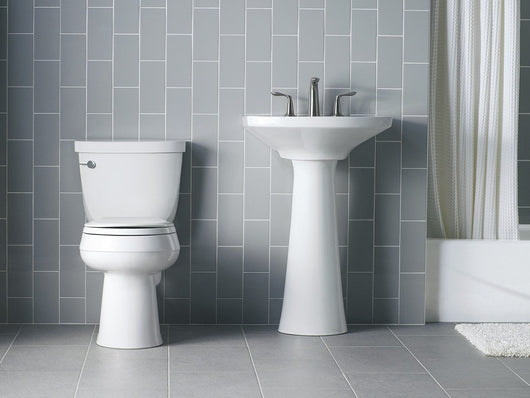 KOHLER K-4639-0 Cachet Quiet-Close with Grip-Tight Bumpers Round-front Toilet