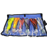 SET of 6 Marlin / Tuna Mahi Dolphin Durado Wahoo Trolling skirt Lures