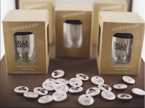 Co branded reusable coffee cups