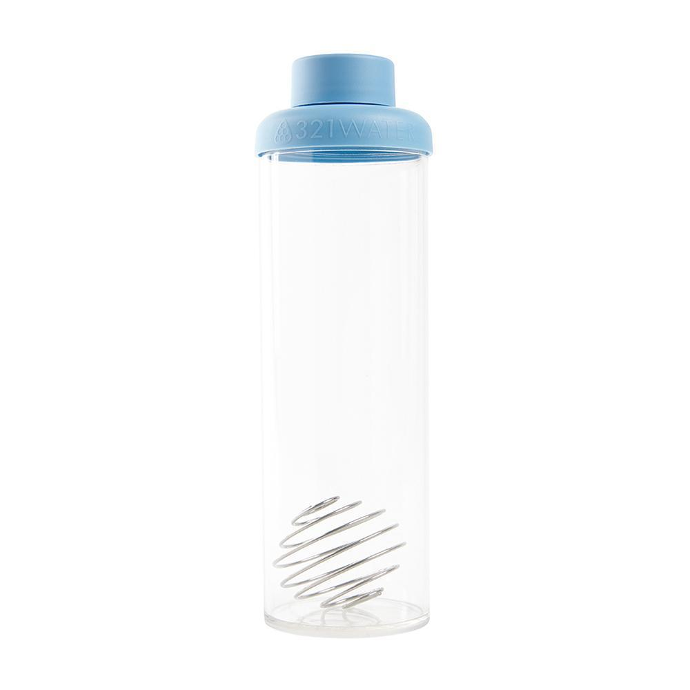 321 Detox Bottle blue smoothie bottle & protein shaker