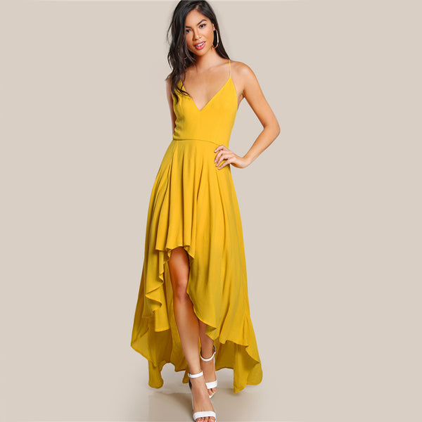 Low Draped Maxi Dress
