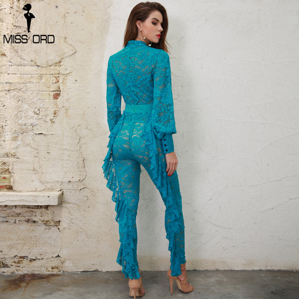 Ruffled Lace Jumpsuit