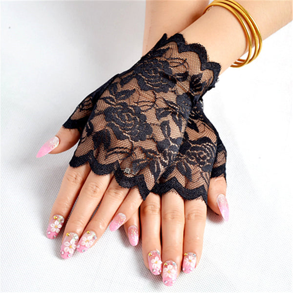 Fingerless Lace Gloves