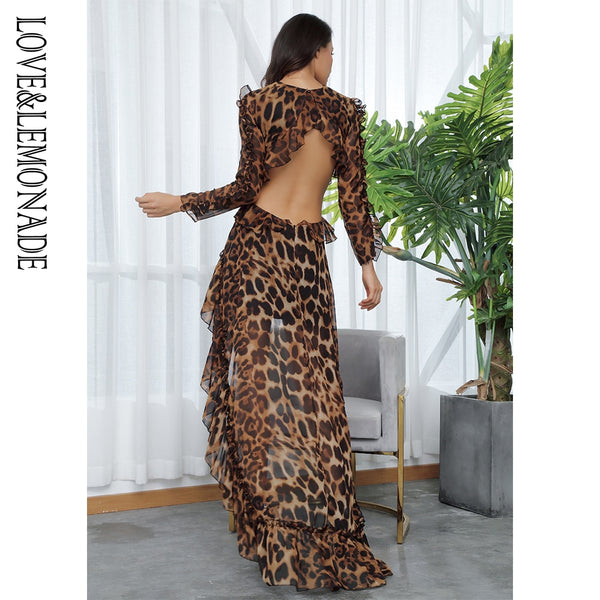 Leopard Chiffon Dress