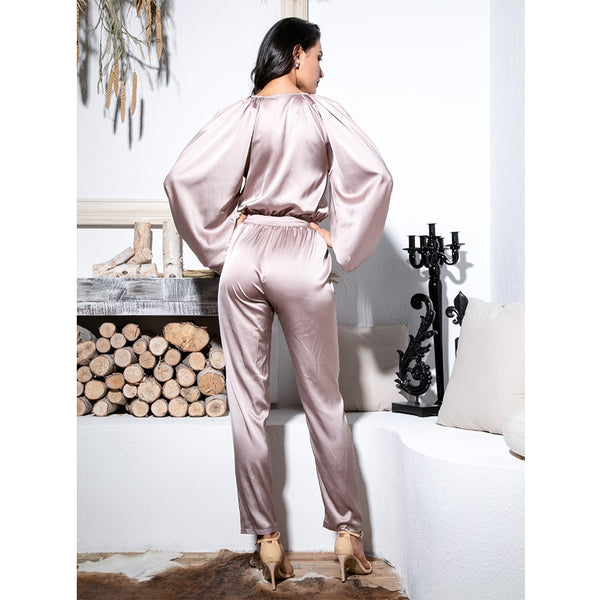 Deep Neck Jumpsuit