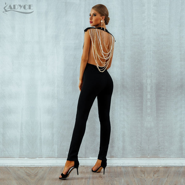 Pearled Back Jumpsuit