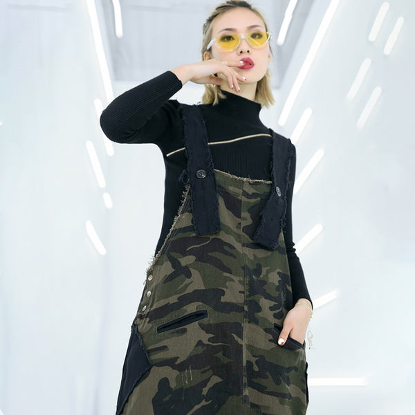 Camouflage Overall Skirt