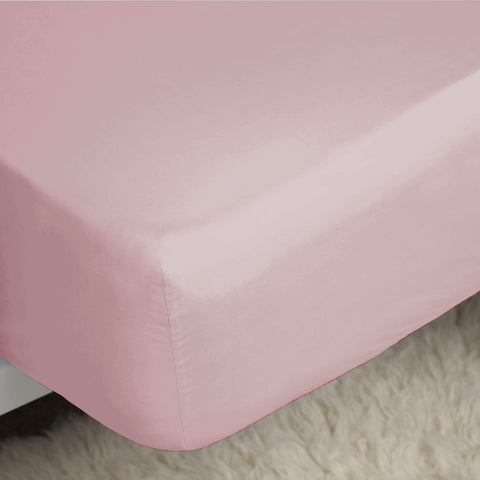 "Belledorm Easy Care ""200 Thread Count"" Polycotton Bed Sheet - Blush Colour"