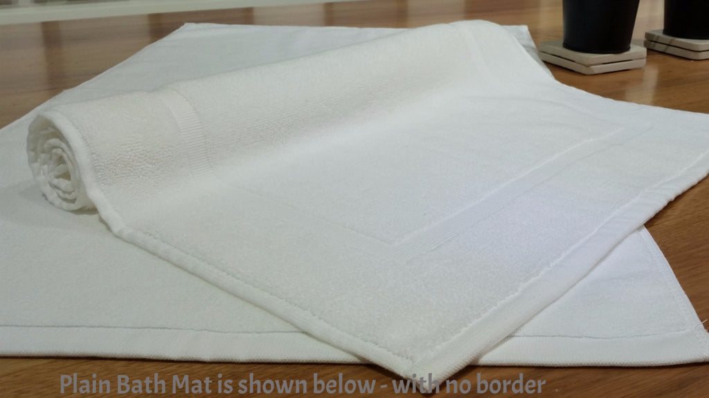 "Linen Obsession ""Spa Plain"" Bath Mat in White"
