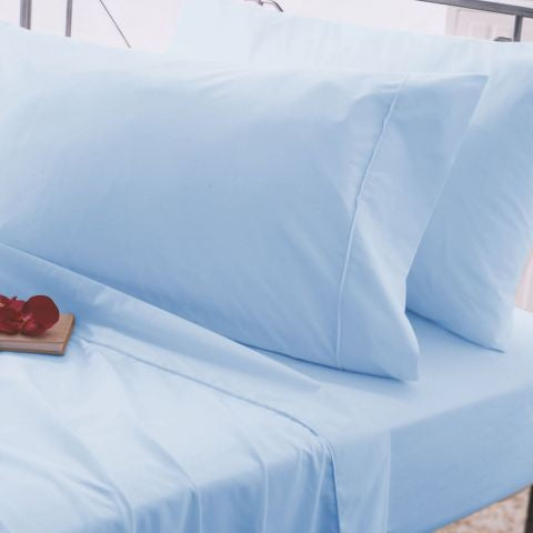 "Belledorm Easy Care ""200 Thread Count"" Polycotton Bed Sheet - Duck Egg Colour"