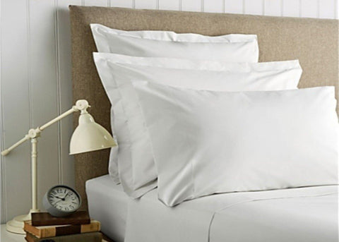 "Christy ""400 TC Sateen"" Plain Dyed Sheets in Colour White"
