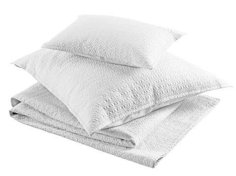 "Christy ""Amalfi"" Quilted Throws and Pillow Shams - White"