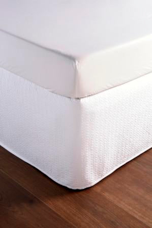 "Christy ""Amalfi"" Quilted Bed Skirt  (Valance)- colour White"
