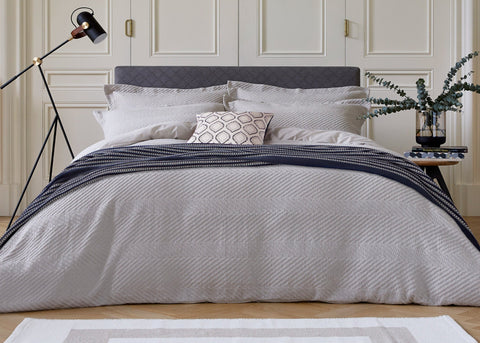 "Bedeck of Belfast ""Kenza"" Duvet Cover Sets in Grey"