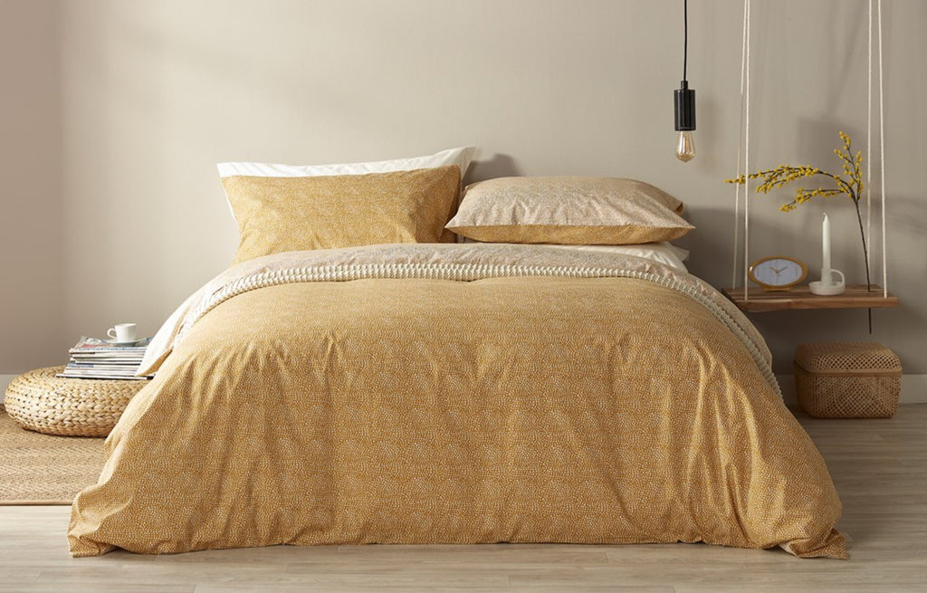 "NEW! - Christy ""Bethany"" Duvet Cover Sets in Ochre Colour"