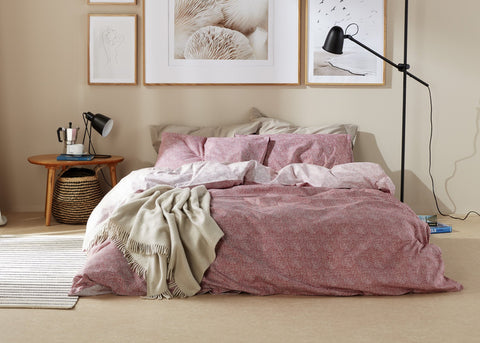 "NEW! - Christy ""Bethany"" Duvet Cover Sets in Pomegranate Colour"