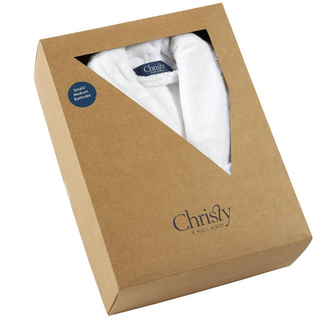 "Christy ""Cosy Gift Boxed Robes"" White colour"