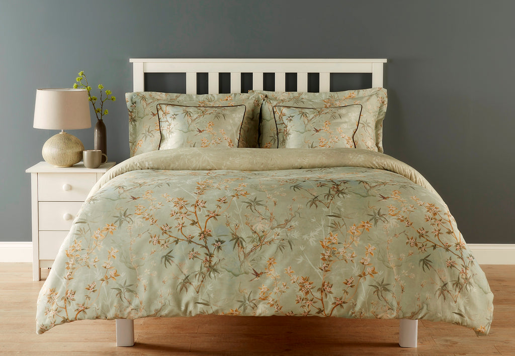 "Christy Spanish Range ""Chinoiserie"" Bed Linen - Colour Green"