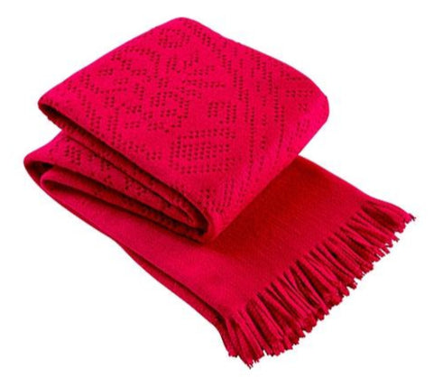 "Christy ""Lace"" Super Soft Throw - Raspberry Colour"