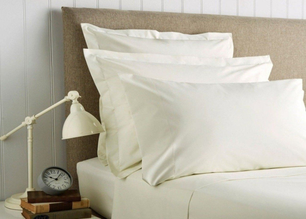 "Christy ""400 TC Sateen"" Plain Dyed Sheets in Colour Ivory (cream)"