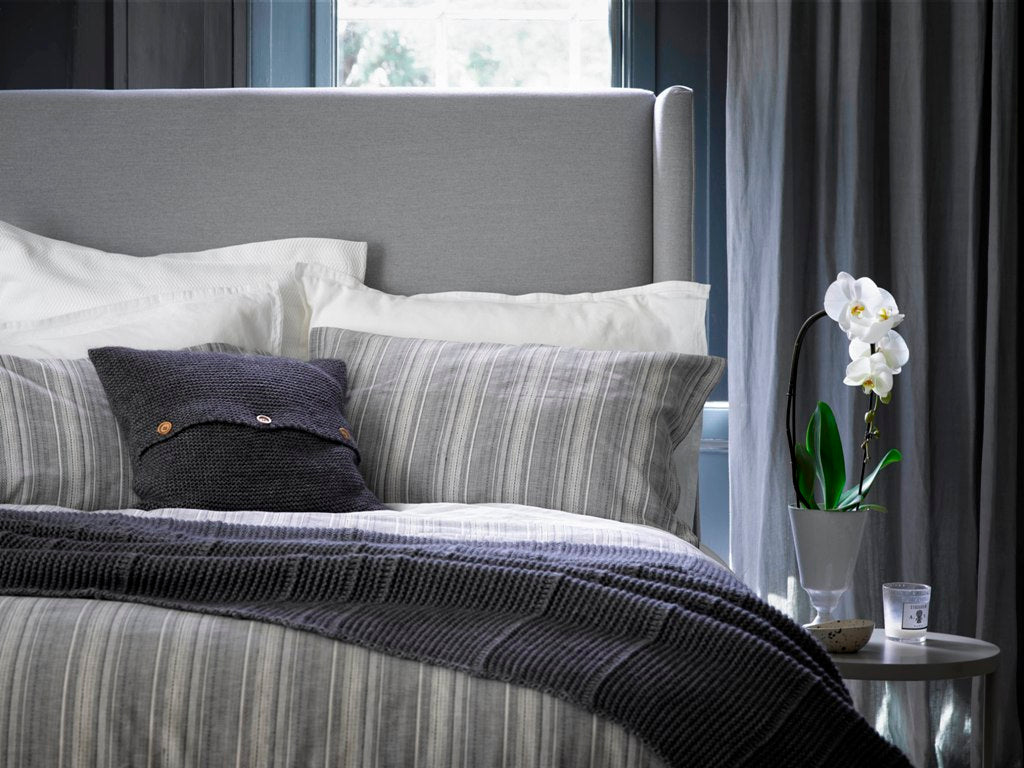 "Christy ""Greenwich"" Duvet cover & Fitted Sheet Set Colour Charcoal"