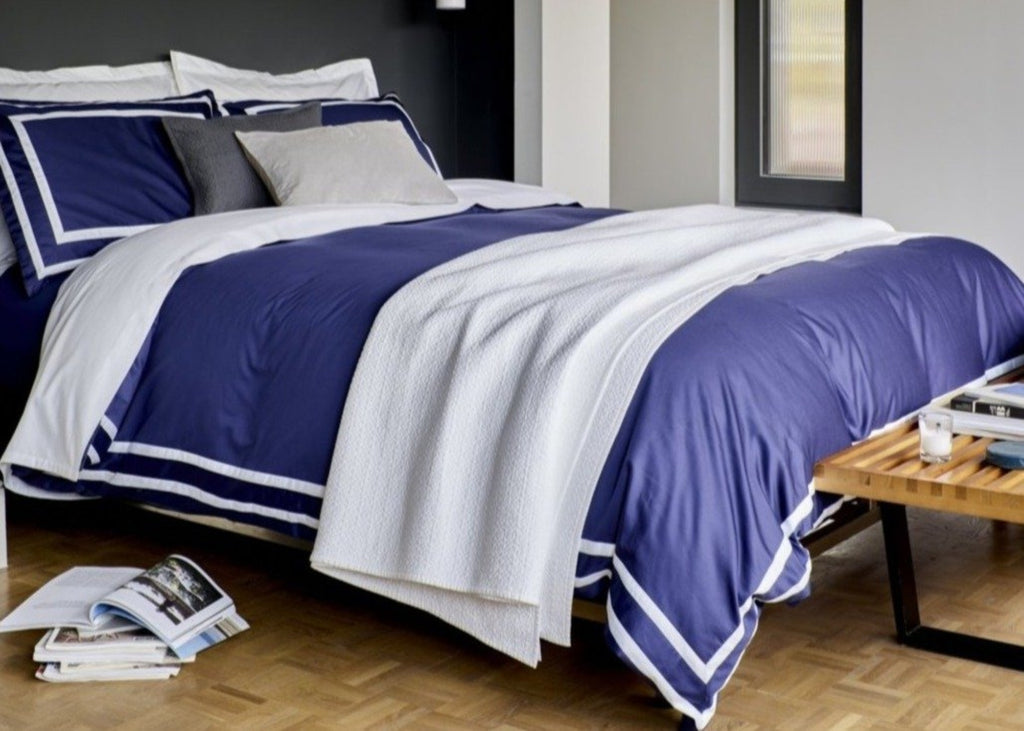 "Christy ""Stamford"" Duvet Cover Sets in Colour Navy"