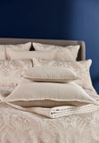 "Christy ""Fairfield"" Jacquard Duvet Cover Sets in Oyster Colour"