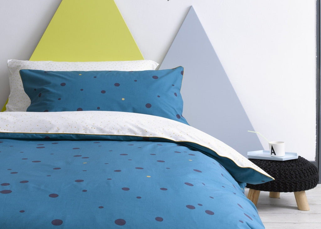 "Christy Junior ""Galaxy Spot"" Bed Linen - Colour Teal"