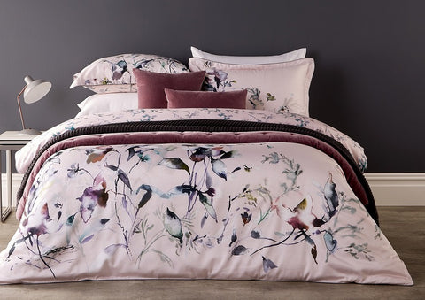 "NEW! - Christy ""Gardenia"" Duvet Cover Sets in Dusky Pink"