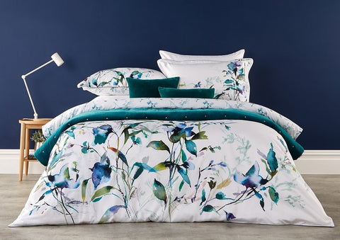 "NEW! - Christy ""Gardenia"" Comforter & Bedspread Sets in Prussian Blue"