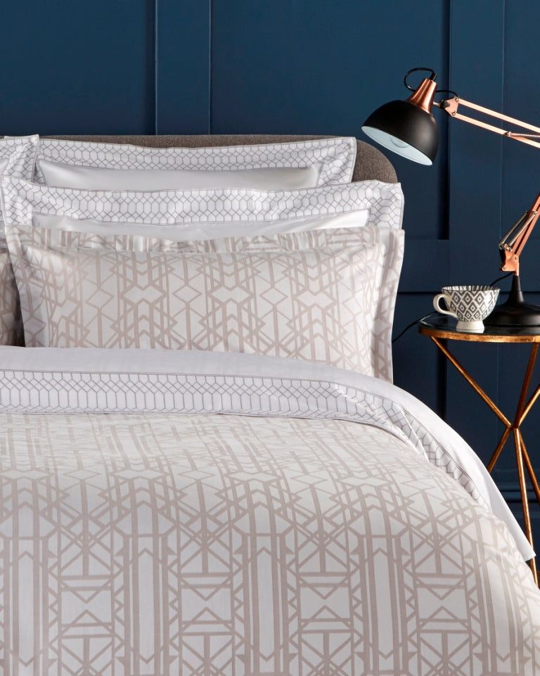 "Christy Premium ""Gatsby"" Bed Linen - Colour Platinum"