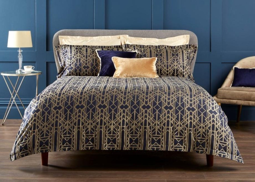 "Christy Premium ""Gatsby"" Comforters in Navy"