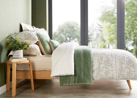 "Christy ""Giverny"" Duvet Cover Sets in Colour Jade"
